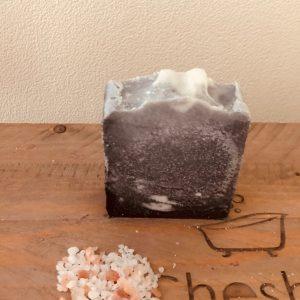 Lavender and Charcoal Salt Bar
